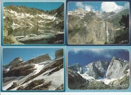 4 CPM - Regards Sur LES PYRENEES (65) Lac Du Pourtet, Gavarnie, La Grande Cascade, Sommets Du Marboré, Refuge, Face Nord - Frankreich
