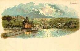 AK Gmunden Ca. 1910 (?) Panorama Bei Nacht / Traunsee Traunkirchen Ebensee Neukirchen Vöcklabruck - Gmunden