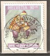 Zu J 354 PRO JUVENTUTE 1999 Obl. Centrale CHÂTONNAYE 26.5.00 SBK 2,50 - Pro Juventute