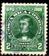 COSTA RICA 1910  2c. - Green (Juan Mora F.)   FU - Costa Rica