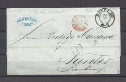 Brief Van Breslau Naar Nantes 27/07/1861  (GA9668) - Allemagne