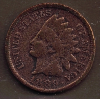USA ONE CENT 1889 INDIAN HEAD - Émissions Fédérales