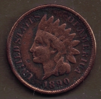 USA ONE CENT 1890 INDIAN HEAD - 1859-1909: Indian Head