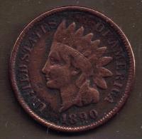 USA ONE CENT 1890 INDIAN HEAD - Émissions Fédérales