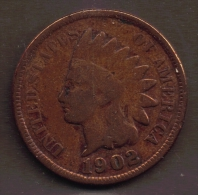 USA ONE CENT 1902 INDIAN HEAD - Federal Issues