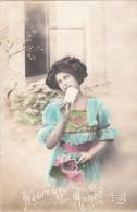 Carte Postale Ancienne Fantaisie - Femme - Heureuse Année - Fantasia