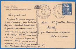 1948 - PORT SUR SAONE - CACHET TYPE A6 - SAONE ET LOIRE - Sur 5F Gandon - Marcophilie (Lettres)