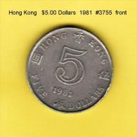 HONG KONG    $5.00 DOLLARS  1981  (KM # 46) - Hong Kong