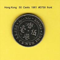 HONG KONG    50  CENTS  1961  (KM # 30.1) - Hong Kong