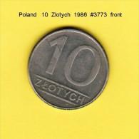 POLAND    10  ZLOTY  1986  (Y # 152.1) - Poland