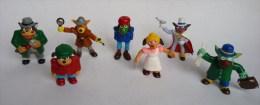RARE Série Complète De 7 FIGURINES SCHERLOCK HOLMES - En PVC YOLANDA 1986 - Figurines