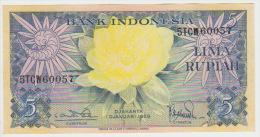Indonesia 5 Rupian 1959 Pick 65 UNC - Indonésie