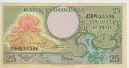 Indonesia 25 Rupian 1959 Pick 67 UNC - Indonésie