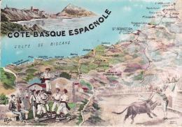 España--San Sebastian Y Costa--Plano De Poblaciones - Mapas