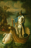 Carte Postale, Personnages D'opera, Richard Wagner, Lohengrin, Peinture Murale, Chateau Neuschwanstein, 1884 - Opéra