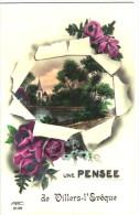 Une Pensée De Villers-l'Evêque - Paysage - Fleurs - 2 Scan - Awans