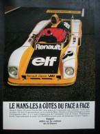 - Pub Auto - Publicité Papier - Automobile - Renault Alpine V6 - Juin 1978 - 24 Heurs Du Mans - ELF - - Publicités