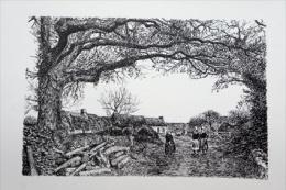 Reproduction Offset - Paysage -  De Benjamin Derry - 40x50 - Dessins