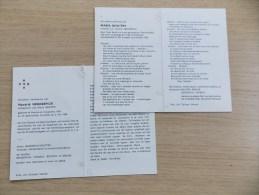 2 Doodsprentjes Koppel Hendrik Henderyck En Maria Bouttry - Religion & Esotérisme