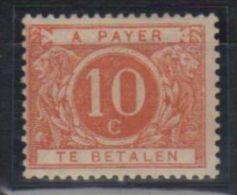 04929g Belgique - Belgie 1895, N° TX5b * Saumon Nuance Rare, Cote 275 - Timbres