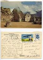 Peru 1971 Postcard Machu Picchu - Cuzco, Argentina Stamps - Perù