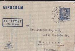 DANMARK - 1950 - LETTRE AEROGRAMME De COPENHAGUE Pour MAZAMET - RARE - Entiers Postaux
