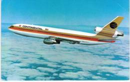 Thème -  Avion - Continental DC 10 - Format 8.5*13.5  Cm - 1946-....: Moderne