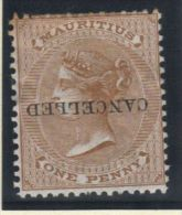 07978 SG56* MM Overprint CANCELLED Inverted - Maurice (...-1967)