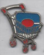 Beau Pin´s En Zamac , Hypermarché Continent Villejuif , Chariot , Caddie - Cities
