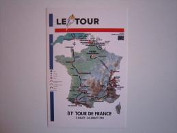 CYCLISME CICLISMO WIELRENNEN RADSPORT : CARTE DYNAPOST Du TOUR De FRANCE 1994 Carte Publicitaire Originale - Cycling