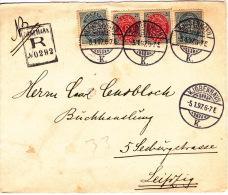 1897  Lettre Recommandée De Copenhague Pour Leipzig - 1864-04 (Christian IX)