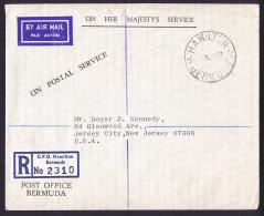 1967 Registered Philatelic Bureau Letter To USA  No Stamps - Bermuda