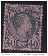 Charles III  40 Cent.  Yv 7 * - Monaco