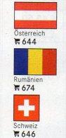 6-set 3x2 Farben Flaggen-Sticker Variabel 4€ Zur Kennzeichnung An Alben+Sammlungen Firma LINDNER #600 Flags Of The World - Zubehör