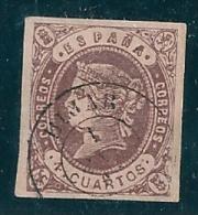 Spain 1862 Edifil 58 Teruel Hijar Used - 1850-68 Kingdom: Isabella II