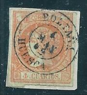 Spain 1860 Edifil 52 4 Cu. Huesca Boltana Used - Used Stamps