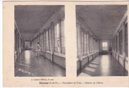 22297 Rennes, La Galerie Du Cloître Du Monastère St-Yves, -lamiré - Une Nonne Religieuse