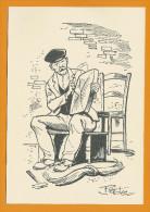 Le Rempailleur De Chaises  -  Illustration De Pierdec - Craft