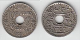 ****  TUNISIE - TUNISIA - 10 CENTIMES 1933 **** EN ACHAT IMMEDIAT !!! - Túnez