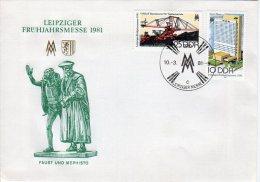 DDR 1981 Leipzig Spring Fair FDC.  Michel 2593-94 - [6] Democratic Republic