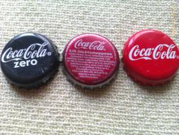 Lote 3 Chapas Kronkorken Caps Tappi Coca Cola. Alemania - Chapas Y Tapas
