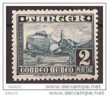 TA170-LA638TTOA. Marruecos Maroc Marocco TANGER ESPAÑOL AVIONES1948 (Ed 170**par).sin Charnela MAGNIFICO - Transporte