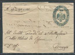 1830  RARA  PREFILATELICA DA   CORREGGIO  REGGIO EMILIA   X CITTA  COMANDO DEL 4 BATTAGLIONE DELLA MILIZIA - 1. ...-1850 Prefilatelia