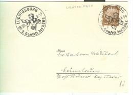 LANCIO PESO, LUDWIGSBURG 1939, ANNULLO SPECIALE  FIGURATO, - Pesistica