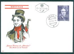 ÖSTERREICH - FDC Mi-Nr. 1109 - 100. Todestag Von Johann Nepomuk Nestroy Stempel GRAZ (1) - FDC