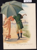 Happy Christmas Umbrella Goes Out The Card ; Poem Of F. M. Chettle (scan Verso) (12´973) - Cartes Postales