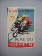 """GROSSER PREIS 1957. Hockenheim"" 1 Bollo ERINNOFILO (moto/motociclismo) - Erinnofilie"