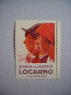 """""""IX° Festa Delle Camelie LOCARNO 1932"""" 1 Bollo ERINNOFILO - Vignetten (Erinnophilie)"""