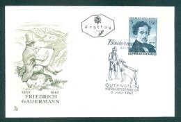 ÖSTERREICH - FDC Mi-Nr. 1110 - 100. Todestag Von Friedrich Gauermann Stempel GUTENSTEIN (4) - FDC