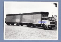 Photo Ancienne - ETAMPES - Camion UNIC FIAT Et Sa Remorque - Carrosserie Laloyeau à Etampes , Routes De Briéres - Cars